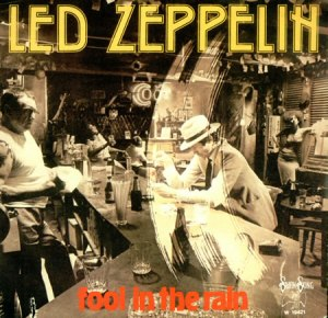 Led Zeppelin - Fool In The Rain - promo 45rpm cover sleeve - #1980LZMO
