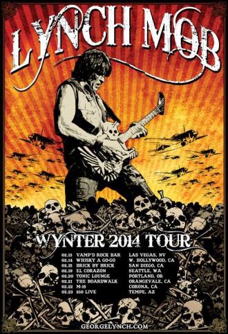 Lynch Mob - Winter Tour 2014 - promo tour flyer - #2014LMMO3377
