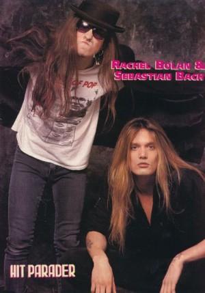 Rachel Bolan - Sebastian Bach - Hit Parader Poster - circa 1990 - promo