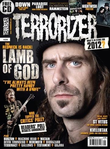Randy Blythe - Terrorizer - magazine cover - 2011 - #218RBMO