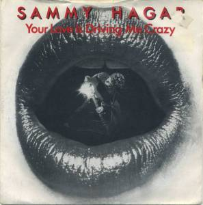 Sammy Hagar - Your Love Is Driving Me Crazy - 45rpm cover sleeve - #1993MOSHTLB