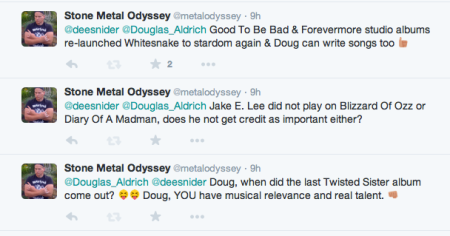 Stone - Metal Odyssey - twitter responses to Dee Snider - Doug Aldrich - February - 2015 - #77JA