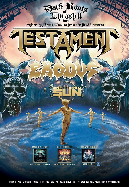 Testament - Exodus - Dark Roots Of Thrash II - promo tour flyer - 2015MOTE