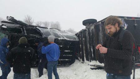 Within The Ruins - van crash - February - 2015 - #777WTRMO