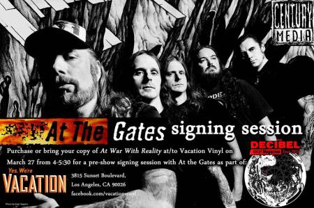 At The Gates - Vacation Vinyl - signing - March 27 - 2015 - promo flyer