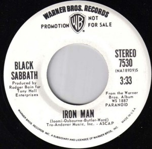 Black Sabbath - Iron Man - 45rpm - promo pic - #1972BSMO0311