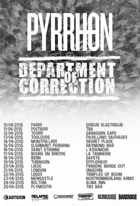 Department Of Correction - April - 2015 - Tour Flyer promo - #2015DOCMOP