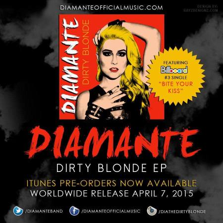Diamante - Dirty Blonde EP - promo album flyer - 2015 - #0407DMO33