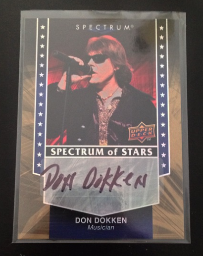 Don Dokken - 2008 - Upper Deck Spectrum Of Stars - Autographed Trading Card - #0803DDMO