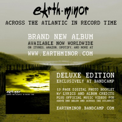 Earth Minor - Across The Atlantic In Record Time - promo album flyer - #2014EMHYMO