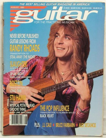 Guitar Magazine - Randy Rhoads - Aug - 1980 - #333303MO