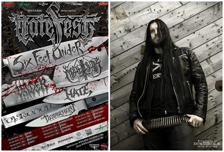 Hatefest - 2015 tour flyer - Victor Brandt - promo pic - #2015VBMO