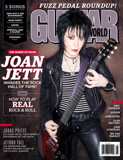 Joan Jett - Guitar World Cover Promo - May 15 - 2015 - #030578JJMO