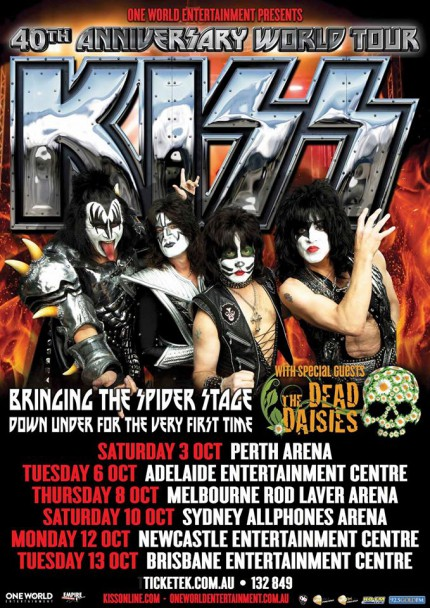 Kiss - Dead Daisies - Australia - world tour - 2015 - promo flyer - #090633DDKMO