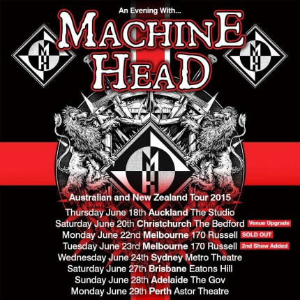 Machine Head - Australia - Tour Promo Flyer - 2015 - #062015MHMO