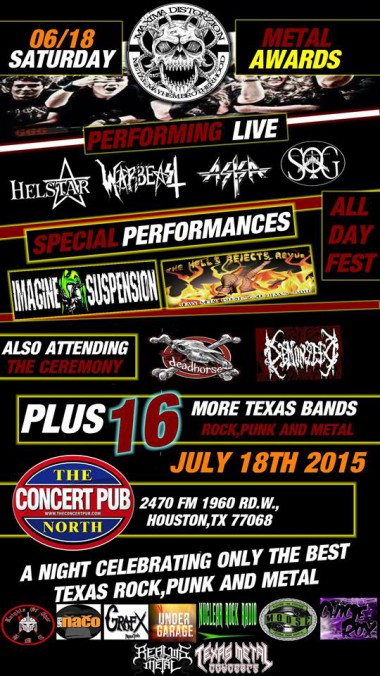 Maxima Distorzion - concert flyer - June 18th - 2015 - #66SOGMO