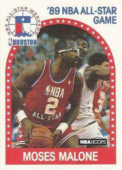 Moses Malone - 1989-90 NBA Hoops Trading Card - promo picture - #MMMO
