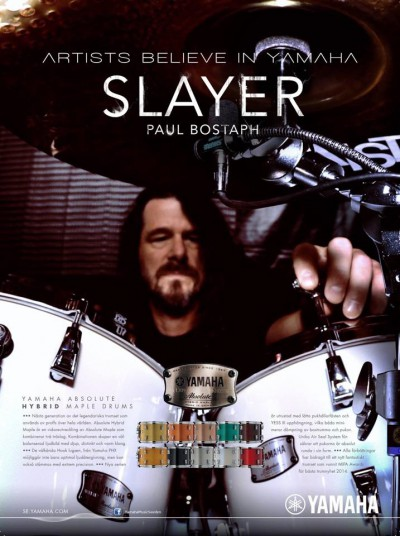 Paul Bostaph - Slayer - Yamaha - AD promo - 2015 - #20150211MO