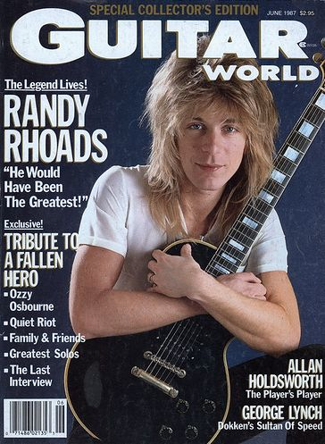 Randy Rhoads - Guitar World Cover promo - June 1987 - #777RRMO03