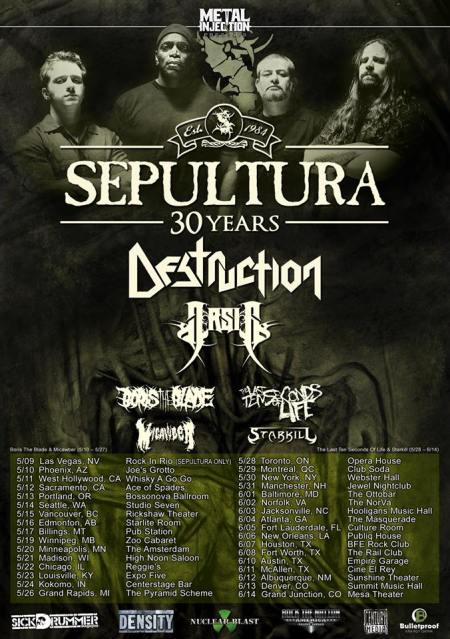 Sepultura - Destruction - Spring 2015 - promo tour flyer - #0022SMODA