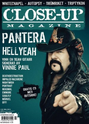 Vinnie Paul - Close Up magazine cover promo - 2014 - VPMO