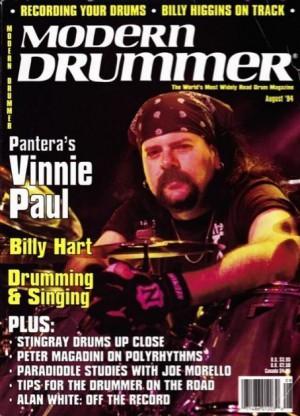 Vinnie Paul - Modern Drummer - cover promo - 1994 - VPMO