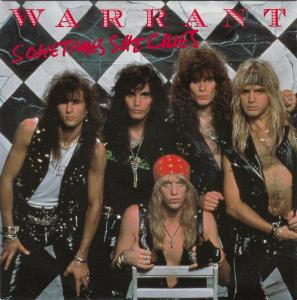 Warrant - Sometimes She Cries - promo 45rpm  cover sleeve - 1990 - #90WMO0303