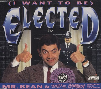 Bruce Dickinson - Rowan Atkinson - Mr Bean - Elected single cover pic - #880077MO