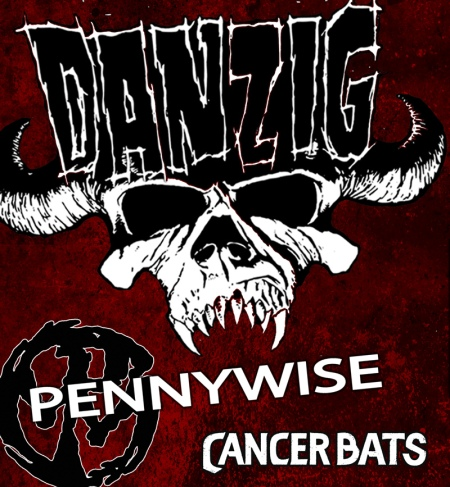 Danzig - Pennywise - Cancer Bats - promo tour flyer - 2015 - #363621MOGD