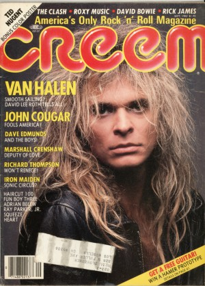 David Lee Roth - Creem - Promo magazine cover pic - 1982 - #DLRMO69