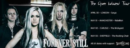 Forever Still - The Open Wound Tour - April - May - 2015 - promo banner - band pic