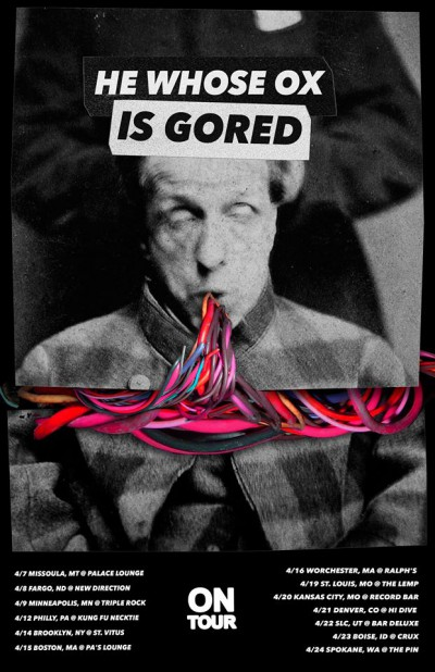He Whose Ox Is Gored - Tour promo flyer - 2015 - #HWOIGMO003399