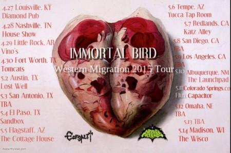 IMMORTAL BIRD - West Coast Tour - promo flyer - 2015 - #04MOIBE