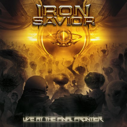 Iron Savior - Live At The Final Frontier - promo album cover pic - 2015 - #ISMO05AFM