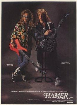 Jack Blades - Tommy Shaw - Hamer Guitar promo ad - 1990