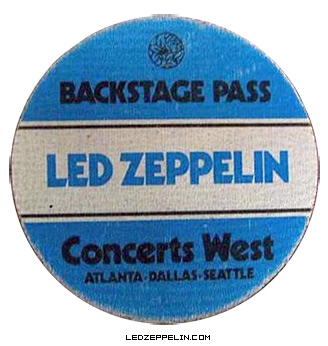 Led Zeppelin - Backstage Pass - Atlanta - 1977 - promo pic
