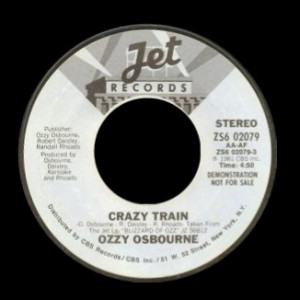 Ozzy Osbourne - Crazy Train - 45rpm - promo pic - #100777OSMO06