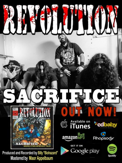 Revolution - Sacrifice - album release - promo flyer - 2015 - #9098MOR