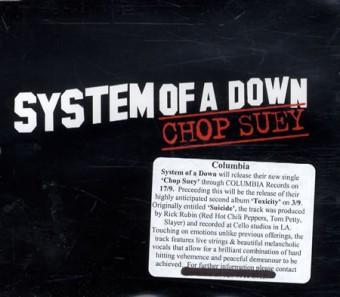 System Of A Down - Chop Suey! - CD single cover promo pic - 2001 - #041215MO1