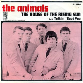 The Animals - The House Of The Rising Sun - promo single cover sleeve - 1964 - TAMO