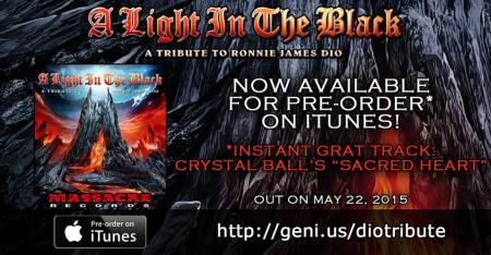 A Light In The Black - A Tribut To Ronnie James Dio - promo album promo banner - 2015 - #0373MORJD
