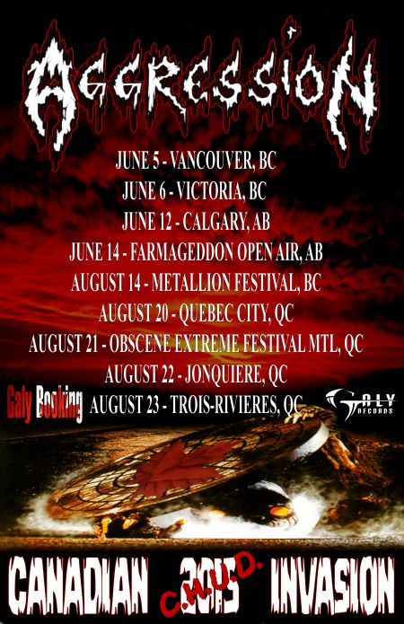 Aggression - Canadian CHUD Invasion Tour - promo flyer - Summer 2015