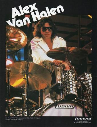 Alex Van Halen - Ludwig Drums Ad promo - 1984 - #84AVHMO