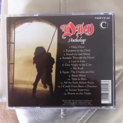 DIO - Anthology - back cover - Metal Odyssey - 2015