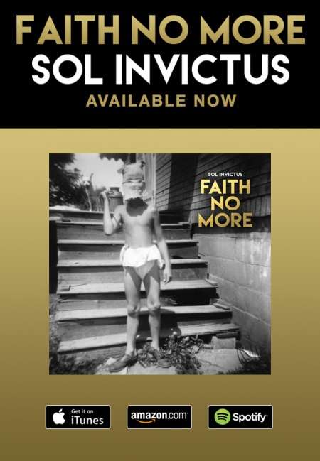 Faith No More - Sol Invictus - Available Now - promo flyer - #052015MOFNM