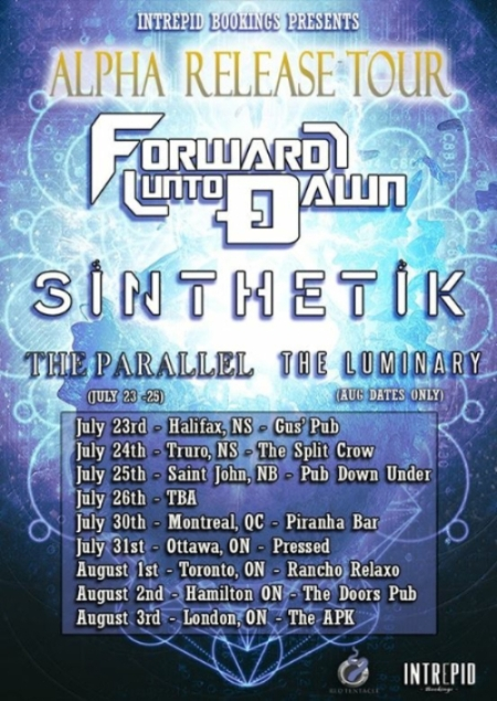 Forward Unto Dawn - promo tour flyer - Canada - Summer - 2015