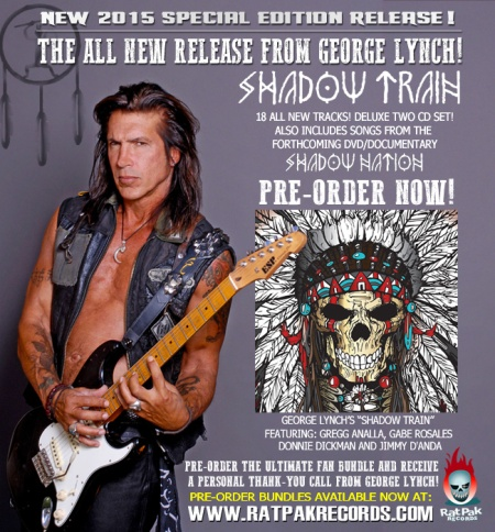 George Lynch - Shadow Train - promo album flyer - 2015 - #0519MOGLRPR015