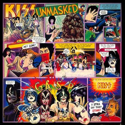 Kiss - Unmasked - promo album cover pic - 1980 - #052080KMO
