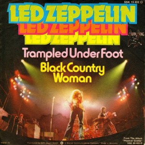 Led Zeppelin - Trampled Under Foot - promo 45rpm cover sleeve - #1975LZRP0517MOJP