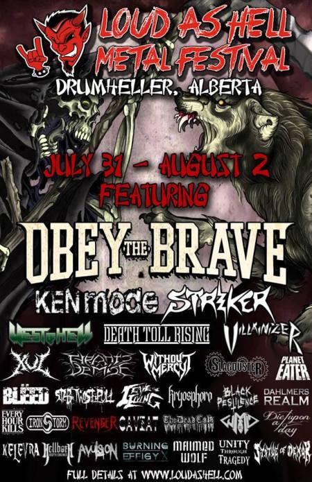 Loud As Hell Metal Festival - 2015 - promo flyer
